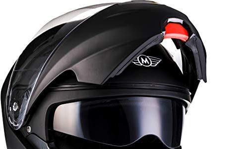 "Moto Helmets® F19 ""Matt Black"" · Motorrad-Helm · Klapp-Helm Modular-Helm Flip-up Integral-Helm Motorrad-Helm Roller-Helm Full-Face Scooter-Helm · ECE Sonnenvisier Schnellverschluss Tasche M 57-58cm"