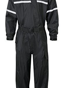 SHIELD – Wasserdichter Regenschutz – Regenkombi – 32L – JDC Motorrad Kombi – Schwarz – 1-Stück – XL