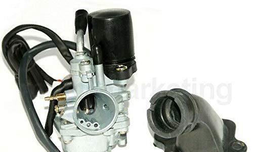 Unbranded Sport VERGASER 17,5mm E-Choke ANSAUGSTUTZEN für Peugeot JETFORCE C-TECH 2TAKT 50