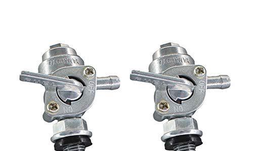 AISEN 2x Universal Kraftstoffhahn Benzinhahn Unterdruck Ventil M10x1.25 passend für Generator Gasmotor Stromerzeuger Kraftstofftank