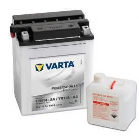 :58006 Varta 514011014A514 Powersports Freshpack Motorradbatterie 14Ah, YB14L-A2