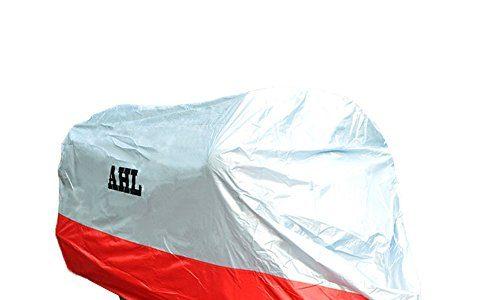 AHL Motorradgarage Abdeckung Faltgarage Cover Regenschutz Wasserdicht Staubdicht Jede Jahreszeit L,Rot