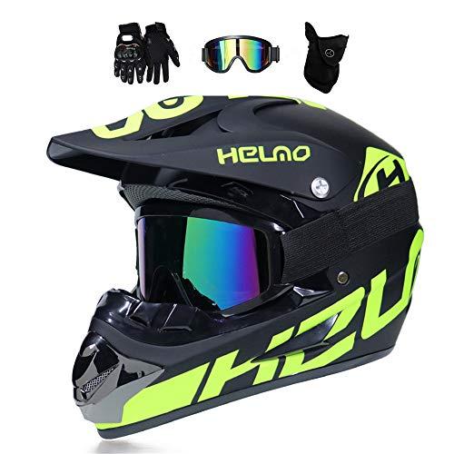 mrdeer motocross helm adult off road helm mit handschuhe maske brille unisex motorradhelm. Black Bedroom Furniture Sets. Home Design Ideas