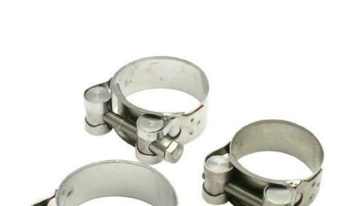 DRC Auspuff-Schelle Silber Gr. 44-47 mm