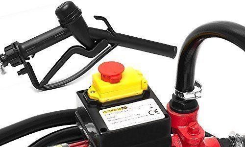 Monzana Dieselpumpe Ölabsaugpumpe | 40L/Min | 600W | inkl. Zapfpistole+Zubehör – Absaugpumpe Ölpumpe Heizöl