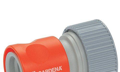 GARDENA Profi-System-Übergangsstück mit Wasserstop: Schlauchstück zum Anschluss am Schlauchende, geeignet für 19 mm 3/4″-Schläuche 2814-20
