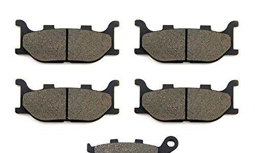 SOMMET Bremsbeläge Vorne + Hinten für Yamaha FZ6 FZ 600 Fazer Naked 2 Piston Caliper 04-07 XJ6-SP/N/F/S Diversion 60013-15 FZ6 NS Naked 05-06 LT199-199-174