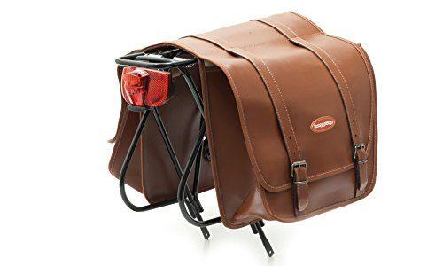 Cicli Bonin Lux Leather Looking Saddle Taschen, braun, 30 x 12 x 33 cm