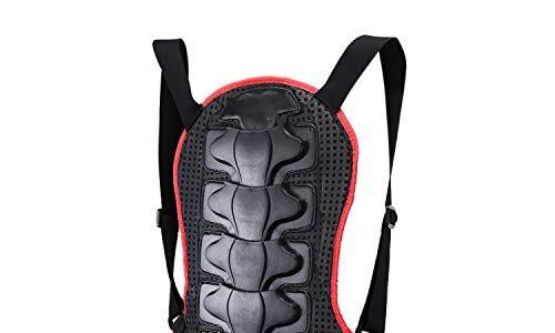 Suntime Rückenprotektor, Umreifungsschutzkleidung EVA-Polsterung mit Nylon Stoff für Motocross Motorrad Ski Snowboard Skating Rot & Schwarz