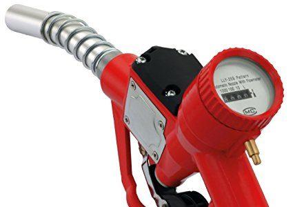 Automatische Zapfpistole mit mechanischem Zählwerk 1″ IG, bis zu 60 Liter pro Minute an Durchfluss, Hebelschutz, Gegendruckfeder, Zapfventilautomatik