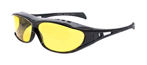 rainbow safety Überbrille Sonnenbrille Herren für Brillenträger Schutzbrille für Sport Radfahren Skifahren Angeln Auto Nachtsichtbrille Polarisierte Gläser RWN20 Nachtfahrbrille