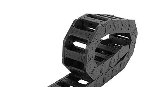 Schleppkette,Verstärktes Nylon PA66 Brückentyp offen beide Seiten Schleppkette Drahtträger 100cm Länge, für 3D-Drucker, CNC, elektronischen Geräten, Tank usw,25 x 57mm