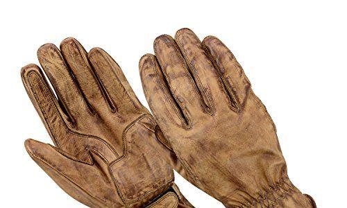 BOSmoto Motorrad Handschuhen Racing Kevlar gewachst Leder Handschuhe Wachs L, Wachs Braun