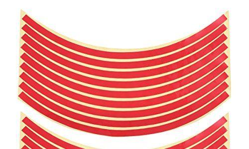 VORCOOL Reflektierende Felgenband Rad Streifen Aufkleber Trim für Motorrad-Auto-Räder 10″-17″ rot
