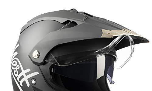 ECE Zertifiziert – Westt Cross Motocross Integralhelm Doppelvisier – Motorradhelm Roller – Matt schwarz