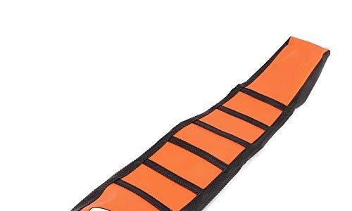 JFGRACING Orange/Schwarz Motorrad Greifer Weiche Motorrad Sitzbezug Für 65 85 125 200 250 300 400 450 525 SX EXC MXC 03-07