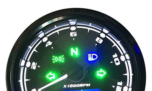 KKmoon Motorrad Tacho LCD Digital Display 0-12000 RPM Drehzahlmesser Kilometerzähler Tachometer