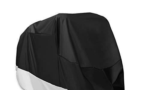 Anti Staub Rost Regen Schnee UV für Honda,Yamaha,Suzuki XXL – 210D Oxford Stoff wasserdicht atmungsaktiv Motorradhüllen mit 2 Verriegelungslöchern Diebstahlsicherung – Alfheim Motorrad Abdeckplane