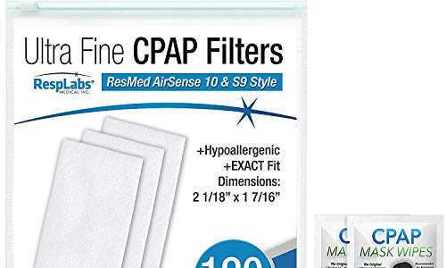 S9, AirStart, Autoset 10 | Disposable, Universal Replacement Filter Kit 120 Pack – RespLabs CPAP Filters Compatible with ResMed AirSense, AirCurve