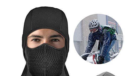 innislink Sturmhaube Motorrad, Sturmmaske Balaclava Winter Skimaske Motorradmaske Fahrrad Maske Radfahren Fleece Wasserdicht Winddicht Thermal Skifahren Masken Motorradfahren Universalgröße Schwarz