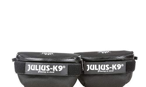4, schwarz, schwarz – Julius-K9  1621IDC-G  IDC-Universal-Seitentaschen, ein Paar, für Geschirr Größe: Mini