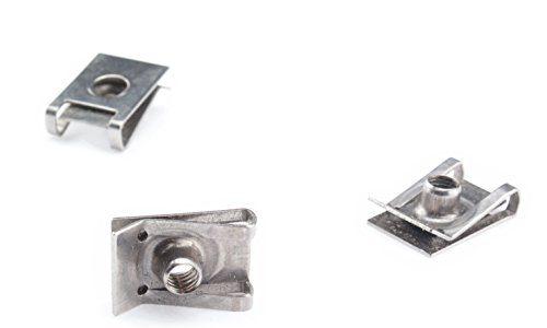 Edelstahl Blechmutter M6 Clipse Klemmen A2 Schnappmutter Federmutter metrisch 6mm Gewinde