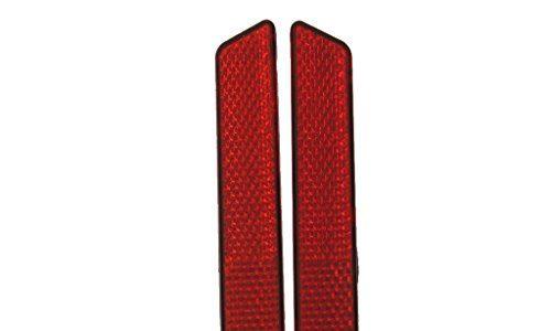 1 paar selbstklebend Rückstrahler Reflektoren für Harley Riegel Deckt Koffern Seite Sichtbarkeit Hd Rot