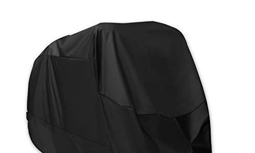 210D Oxford Stoff wasserdicht atmungsaktiv Motorradhüllen mit 2 Verriegelungslöchern Diebstahlsicherung – Anti Staub Rost Regen Schnee UV für Honda,Yamaha,Suzuki XXL – Alfheim Motorrad Abdeckplane