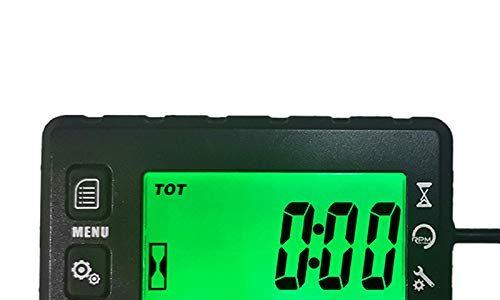 Runleader Digital Self Powered Betriebsstundenzähler Drehzahlmesser,Wartungserinnerung, Warnung Drehzahlerinnerung,Benutzerabschaltung,Wasserdicht,für ZTR Rasenmähergenerator Marine ATV Motor