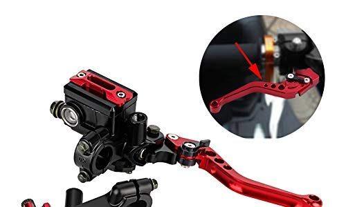 1 Paar Motorrad Brems- und Kupplungshebel Universal Bremskupplung Hauptbremszylinder Behälter 7/8″22mm Rot