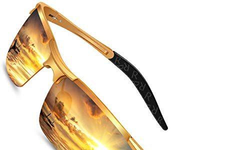 HD Gelbe Anti Glanz Biker Nachtsichtbrillen Brille Gewidmet NachtbrilleGold – Nachtfahrbrille Auto Polarisiert Herren Damen Autofahren