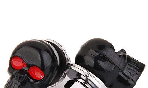 SODIALRPair Motorrad Schaedelnummernschild Rahmen Schrauben Befestigungsschraube Schwarz – Schaedelnummernschild Rahmen