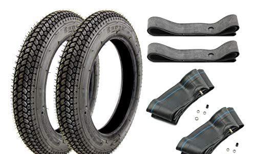 BISOMO Reifen Set Kenda 2 x Reifen K315 3,00 x 12 Zoll 47J TT + 2 x Schlauch + 2 x Felgenband 12″ für Simson SR 50