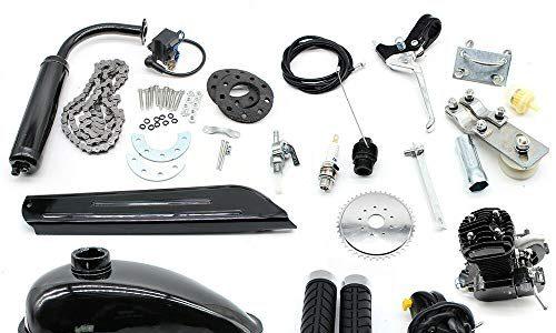 50CC Fahrradmotor Kits 2-Takt Gasmotor Fahrradmotor für 26″28″ Fahrräder