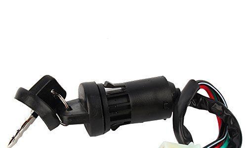 Elerose Universal Ignition Starter Switch,4pin Start Zündschloss wasserdichter elektrischer Türschlossschlüssel für 50 90 110 125ccm Geländemotorrad ATV