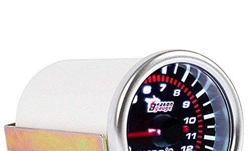 Mintice™ 2″ 52mm LED Licht Kfz Auto Universal Abgastemperaturanzeige EGT 0-1200? Anzeige Auto Gauge Rauchfarbe Len
