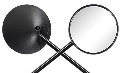 Paar – Ryde Verstellbarer Motorradspiegel, rund, schwarz – 10mm/M10