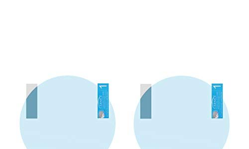 MoKo Rearview Mirror Protective Film, 2PCS 95mm Car Rear View Mirrors Anti-Fog Waterproof Window Clear Glass Film Rainproof Membrane for All Universal Vehicles Cars SUVs etc, Round