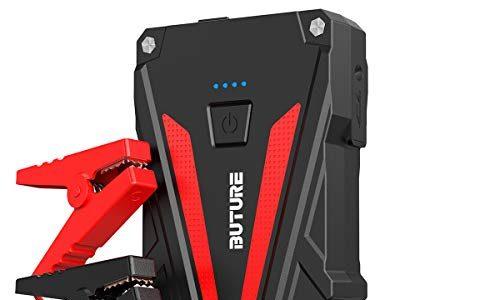 BuTure Tragbare Starthilfe Powerbank, 800A Spitzenstrom Auto Starthilfe für 6.0L Benzin und 5.0L Dieselmotor,12V Starthilfegerät mit Quick Charge 3.0,Dual USB & LED Taschenlampe