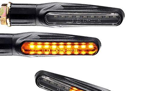 4x LED Motorrad Blinker Sequentiell mit Lauflicht Laufeffekt e-geprüft 2 Paar