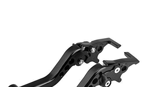 Qiilu 1 Paar CNC Aluminiumlegierung Motorrad Roller Modifikation Doppelscheibe Bremshebel UniversalSwarchz