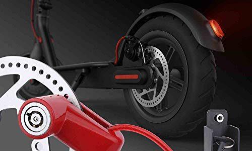 Tomall rote scheibenbremse schloss diebstahlsicher stahldrahtschloss für xiaomi mijia m365 motorrad fahrrad räder locker mit erinnerung seil