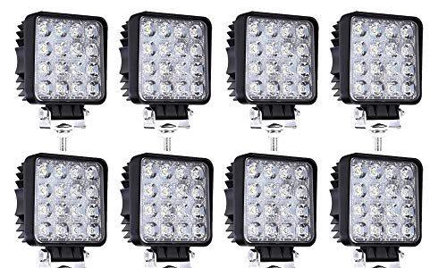 LED Zusatzscheinwerfer 48W Arbeitsscheinwerfer 4320LM 6000K IP67 Wasserdicht Flutlichtstrahler Auto Offroad Scheinwerfer 10 Stück