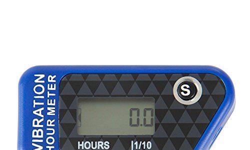 Runleader RL-HM016B blau Vibration Stundenzähler mit Wireless für alle ATV-Benzinmotor UTV dirtbike Motorrad Motorrad-Außenborder Schneemobil pitbike PWC Marine Boot wasserdicht
