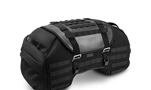 Legend Gear Hecktasche LR2, 48 Liter, Black Edition, wasserabweisend, Retro-Hecktasche