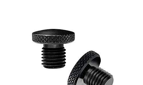 Evermotor Ein Paar M8 M10 CNC Aluminium Anodische Oxidation Motorrad Spiegel Blindstopfen Schrauben Gewinde Verkleidungsschrauben: 2 x 10mm clockwise