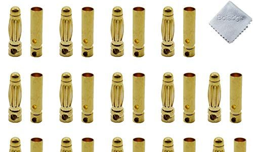 Boladge 20 Paar Vergoldete 3.0mm 3mm Bullet Männlich Buchse Bananenstecker Rundstecker für ESC Motor Lipo Batterie