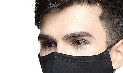 Freahap Unisex Mundschutz Maske Gesichtsmaske Staubschutzmaske Schwarz