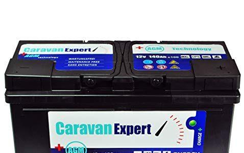 Wohnmobilbatterie Wohnwagenbatterie 140Ah AGM Caravan Versorgungsbatterie…