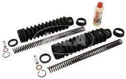 MZA SET: Telegabel Reparaturset mit 3,2 mm Druckfeder + Faltenbalg + Öl + Kleinteile für Simson S50 S51 S53 S70 MZA-60514